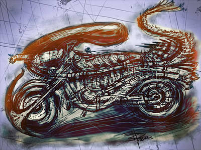 Science Fiction Mixed Media - The Alien Bike by Russell Pierce