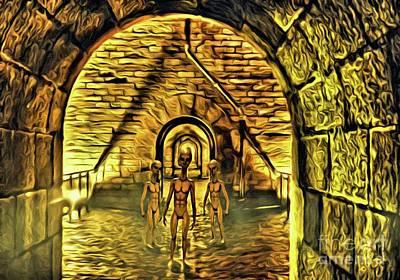 Monster Ufo Wall Art - Digital Art - The Alien Conspiracy by Raphael Terra