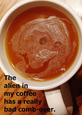 Photograph - The Alien In My Coffee by Lori Kingston