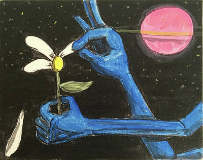 Painting - The Alien Loves Me... The Alien Loves Me Not by Similar Alien