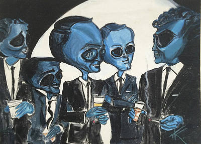 Painting - The Alien Rat Pack by Similar Alien