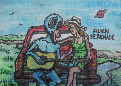 Painting - The Alien Serenade by Similar Alien