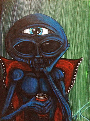 Painting - The Alien With The All-seeing-eye by Similar Alien