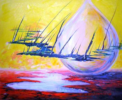 Painting - The Aliens Abstract by Leomariano artist BRASIL