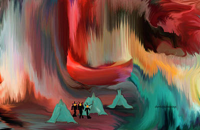 Digital Art - The Aliens Are Here by Sherri's Of Palm Springs