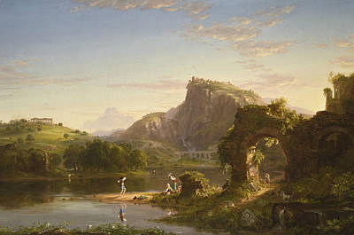 Allegri Painting - The Allegro by Thomas Cole