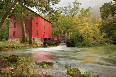 Old Mills Photograph - The Alley Spring Mill - Missouri by Gregory Ballos