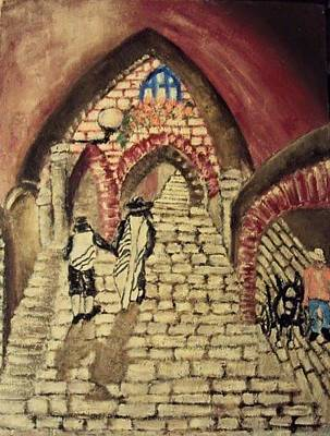 Drawing - The Alleys Of Jerusalem by Mimi Eskenazi