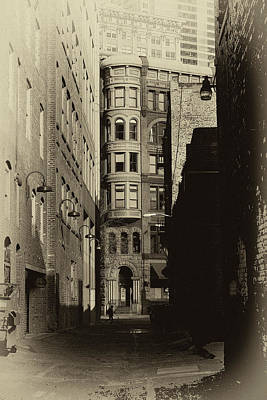Sepia Photograph - The Alleyway by David Patterson