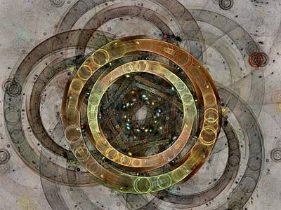 The Almagest - Homage To Ptolemy - Fractal Art Art Print