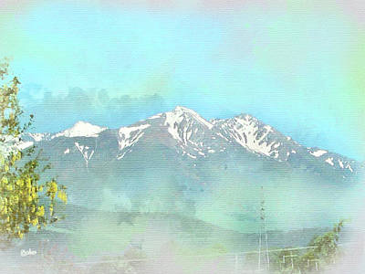 Digital Art - The Alps At Grenoble by Paulette B Wright