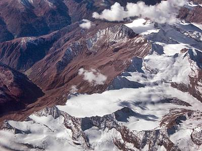 Photograph - The Alps From The Air by David Halperin