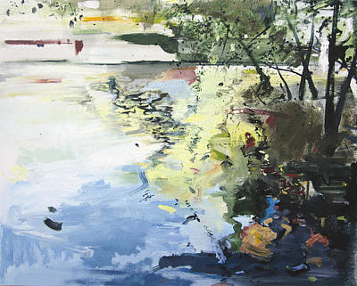 Overhang Painting - The Alster In High Summer by Calum McClure