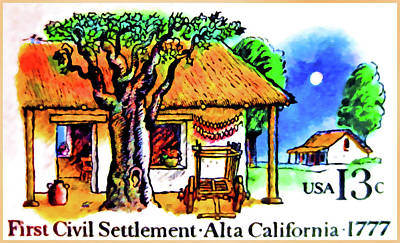 Alta Painting - The Alta California Stamp by Lanjee Chee