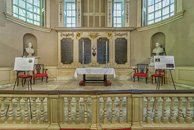 Photograph - The Altar At Kings Chapel In Boston by Brian MacLean