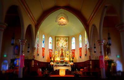 The Altar Of Sacre Coeur  Art Print