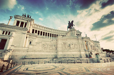 Photograph - The Altare Della Patria Monument In Rome by Michal Bednarek