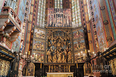 Photograph - The Altarpiece Of Veit Stoss In St. Mary's Basilica, Cracow, Poland. by Michal Bednarek