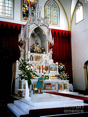 Photograph - The Alter At The Costa Rico Cathedral by Merton Allen