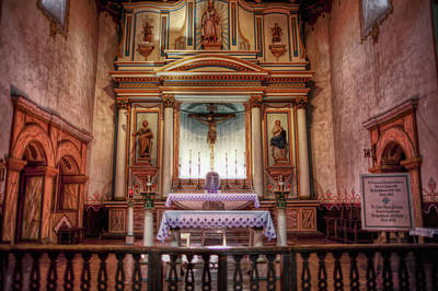 Mission San Luis Rey Photograph - The Alter by Stephen Campbell
