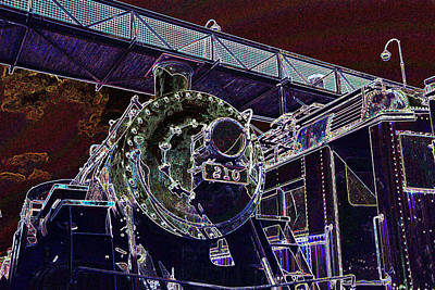 Photograph - The Altgered State Of Engine 210 by Paul W Faust - Impressions of Light