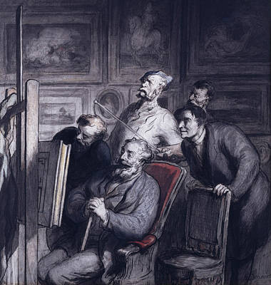Amateur Painting - The Amateurs by Honore Daumier
