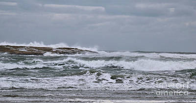 Photograph - The Amazing Atlantic Ocean In March by Sandra Huston
