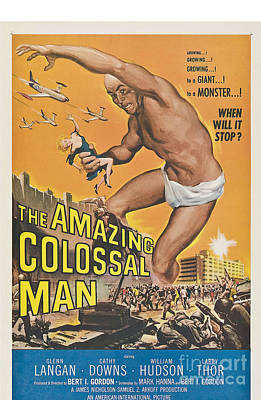 Painting - The Amazing Colossal Man Movie Poster by R Muirhead Art