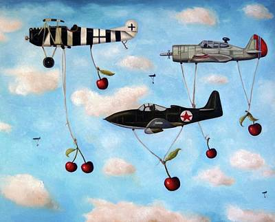 Plane Painting - The Amazing Race 5 by Leah Saulnier The Painting Maniac