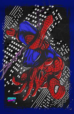 Digital Art - The Amazing Spider-man by Joseph Burke