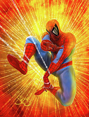 Comics Mixed Media - The Amazing Spider-man by Mark Spears