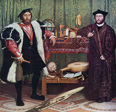 The Ambassadors By Hans Holbein The Art Print