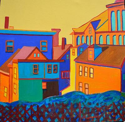 Newengland Painting - The Amber Acre, Lowell, Ma by Debra Bretton Robinson