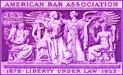 Justice Painting - The American Bar Association Stamp by Lanjee Chee
