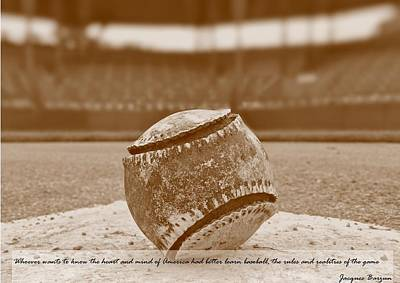Photograph - The American Baseball by Alexandre Martins
