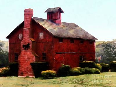 Photograph - The American Dream Red Barn by Janine Riley
