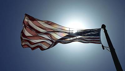 Photograph - The American Flag by Alex King