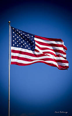 Photograph - The American Flag Art 4 by Reid Callaway