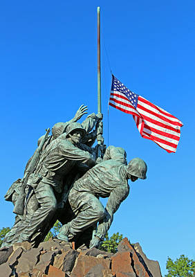 Photograph - The American Flag At Half Mast On September 11th Anniversary by Cora Wandel