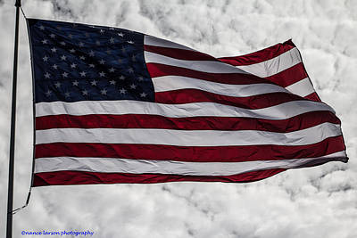 Photograph - The American Flag by Nance Larson