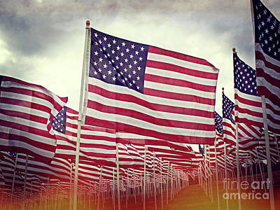 Photograph - The American Flag Proudly Stands by Luther Fine Art