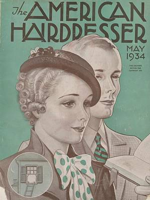 The American Hairdresser May 1934 Art Print by Daniel Tanner