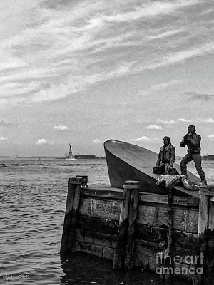 Merchant Mariners Photograph - The American Merchant Mariners Memorial #4 by Julian Starks