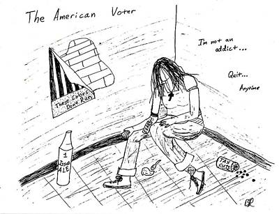 Drawing - The American Voter by David S Reynolds