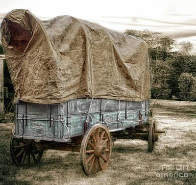 Primitive Photograph - The American Wagon  by Steven Digman