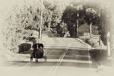 Pennsylvania Dutch Photograph - The Amish Buggy by Bill Cannon