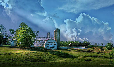 Silo Photograph - The Amish Farm by Marvin Spates