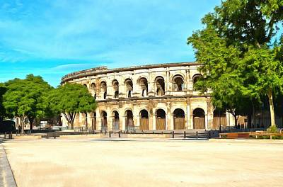 The Amphitheatre Nimes Art Print