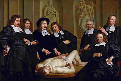Painting - The Anatomical Lesson Of Professor Frederik Ruysc by Adriaen Backer