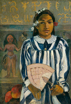Fan Art Painting - The Ancestors Of Tehamana Or Tehamana Has Many Parents by Paul Gauguin